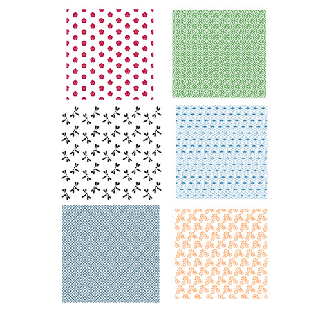 Japanese Seamless Pattern Color Vector