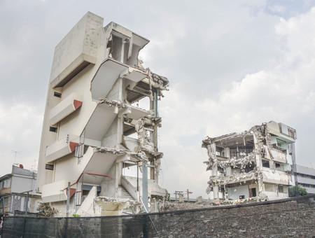destroy: Destroy the building Stock Photo