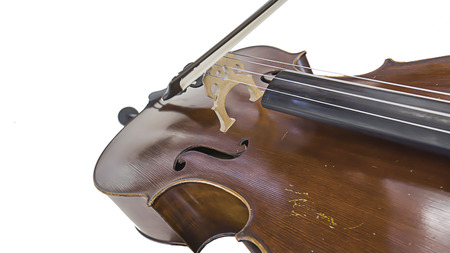 fiddle bow: cello on the top view musician Stock Photo