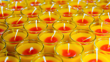 perfumed candle: candles perfume in the glass