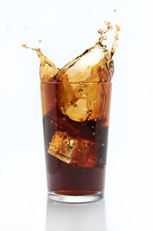 gaseosas: Salpicar cola Foto de archivo