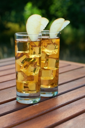 Whiskey with apple juice