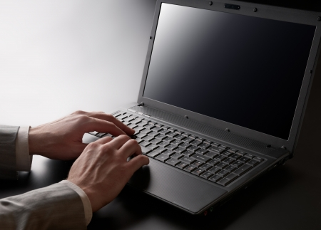backlit keyboard: Working on laptop