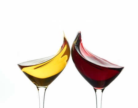 tasting: Toasting wine glasses Stock Photo