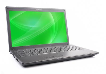 logo couleur: Laptop isol�, �cran vert