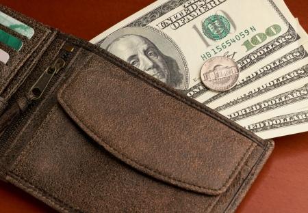 Money in a wallet photo