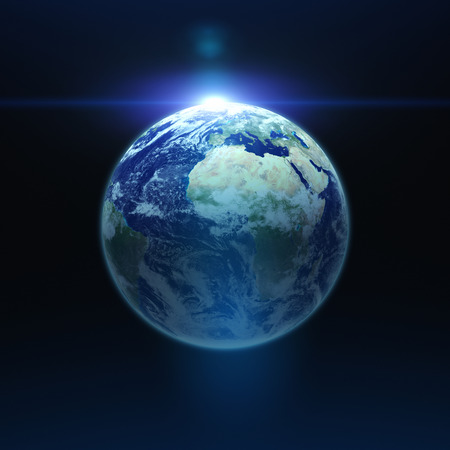centered: The Earth is centered on dark background. Elements of image furnished by NASA