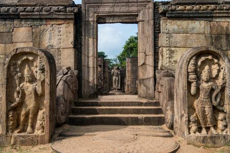 past civilization: Ruins of ancient city Polonarruwa, Sri Lanka