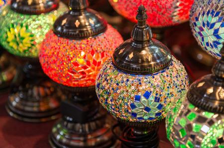 eastern: Colorful eastern lanterns in souk