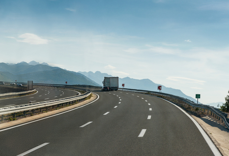 going in: Highway going in mountains in Croatia Stock Photo