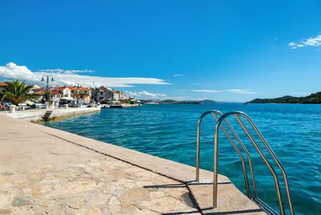 seafront: Seafront of small croatian town