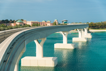 Monorail bridge above water