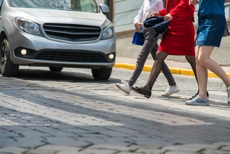 Children crossing road