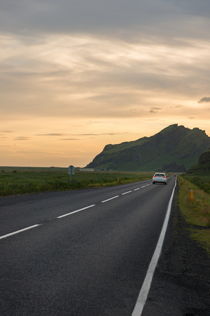 Road trip in Iceland, highway #1 Imagens