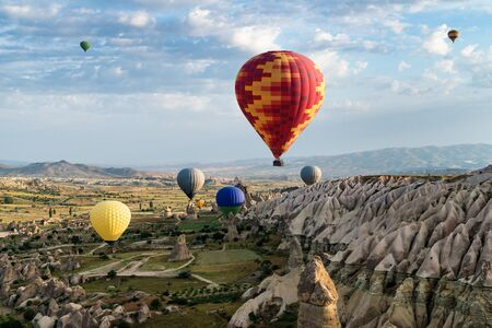 Hot air balloons in Turkey 写真素材