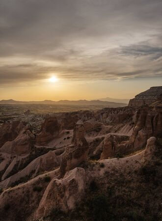 Sunset in red valley, Cappadocia
