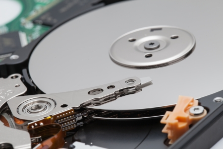 close up of hard disk photo