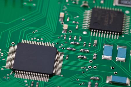 proto: microcontroller on pcb Stock Photo