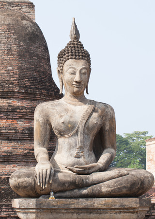 buddha statue at sukhothai historical park,thailand photo