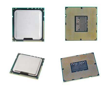 CPU isolated  set on white background with out shadow. photo