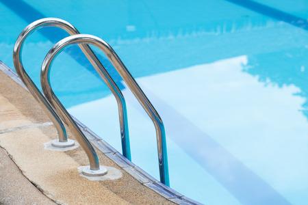 Swimming pool stair. photo