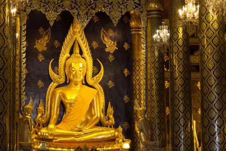 The most beautiful buddha sculpture in Phitsanuloke,Phra Buddha Chinnarat is the most beautiful and the large bronze buddha sculpture in Phitsanulok, Thailand photo