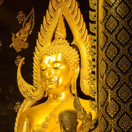 The most beautiful buddha sculpture in Phitsanuloke,  , Phra Buddha Chinnarat is the most beautiful and the large bronze buddha sculpture in Phitsanulok, Thailand photo