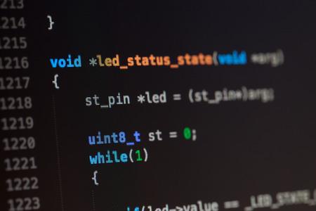 C computertaal broncode.