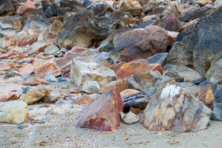 The color of beach rocks.