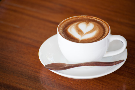 A Cup of latte coffee. Standard-Bild