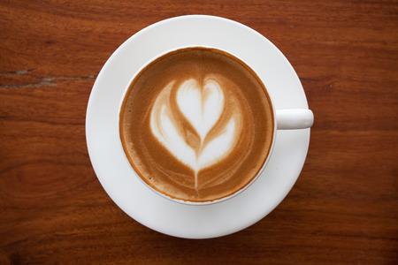 Een kop van latte koffie. Stockfoto