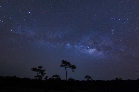 Melkweg, genomen via star tracker laag geluidsniveau van hoge kwaliteit. Stockfoto