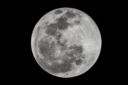 Volle maan via Len 2650mm Stockfoto