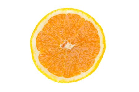 oranje plak die op witte achtergrond wordt geïsoleerd.