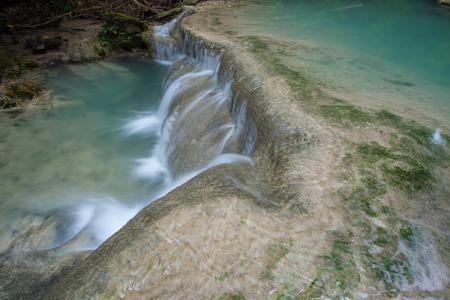 Erawan waterfall National Park Kanjanaburi,Thailand. Standard-Bild