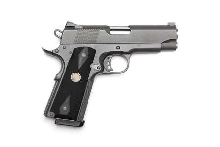 Tactical 1911, 4 pistol on a white background. Studio shot Banco de Imagens