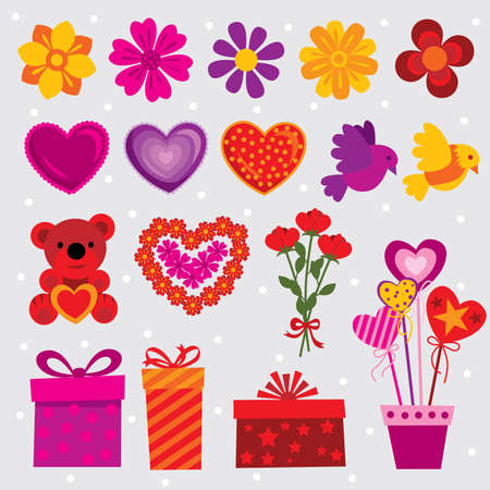 Cute Valentines design set - vector 8 Vector
