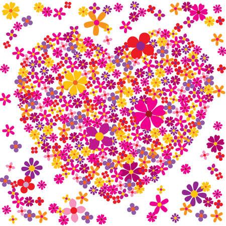 Valentine flowers  - Vector eps8 Vector