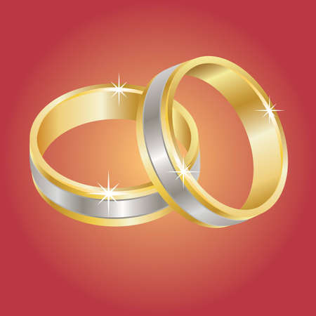 vow: Wedding rings - Vector eps8
