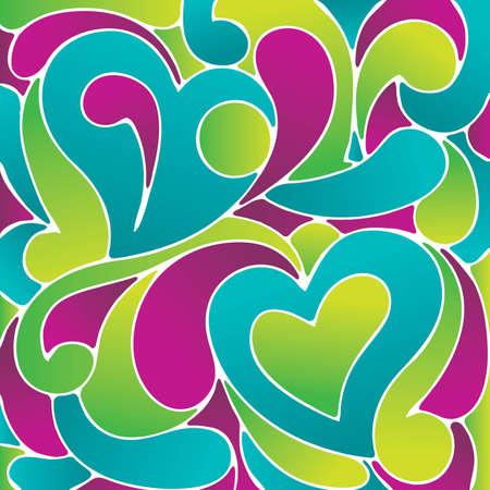 anni settanta: Amore sfondo - Vector eps8