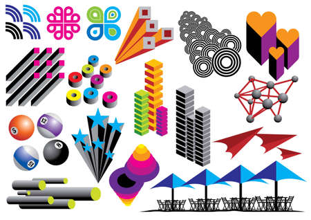 Creative set #14 - Vector eps8. Visit our portfolio for more design elements. Stock Vector - 4192013