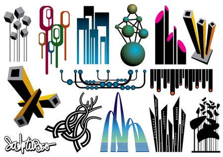 Creative set #20 - Vector eps8 Stock Vector - 4192011