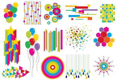 Creative set # 7 - Opgeslagen in EPS8 formaat. De verschillende figuren worden op aparte lagen, zodat ze gemakkelijk kunnen worden bewerkt afzonderlijk. Schaalbaar in elk formaat zonder verlies van kwaliteit. Bezoek mijn galerie voor meer design elementen. Vector Illustratie