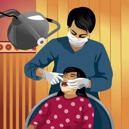 Profession set: dentist - Saved in EPS8 format. You can use any vector compatible software to open/modify/use the file. Scalable to any size without loss of quality. Visit our gallery for more professions. Stock Vector - 4196910