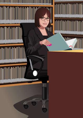 Profession set: librarian Stock Vector - 4236079