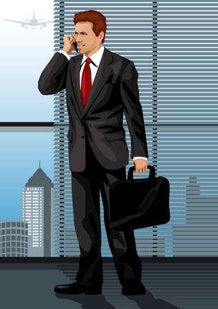 phone money: Profesi�n conjunto: el hombre de negocios - Visita mi galer�a para m�s profesiones. Vectores