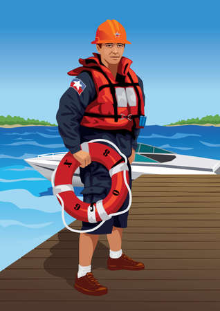 saver: Profession set: lifeguard - Visit my gallery for more professions. Illustration
