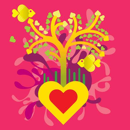Tree of love Stock Vector - 4236076