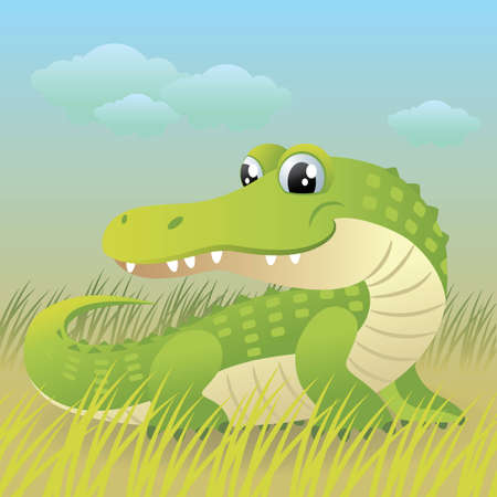 Baby Animal collection: Crocodile Vector