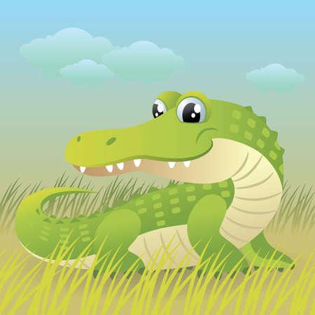 Baby Animal collection: Crocodile Vector